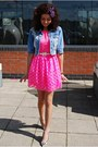 Asos-dress-rosa-rose-jacket-moda-in-pelle-heels