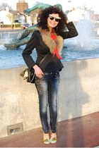 ANNA DELLO RUSSO sunglasses - DiShe jeans - Ebay blazer - Irregular Choice heels