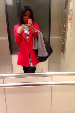 Zara dress - red Mango coat