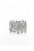 silver flower wire INPINKcom bracelet
