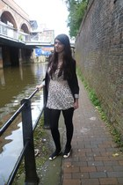 light pink Primark dress - black Newlook leggings - black H&M blazer