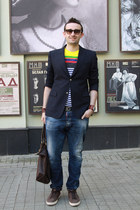 Prada t-shirt - navy Dsquared2 jeans - navy Gucci blazer