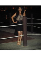 beige Foever top - black Zara skirt