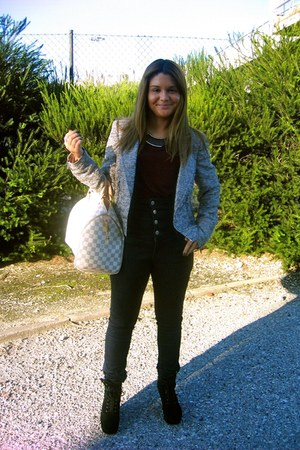 Miss Sixty pants - Zara blazer - Louis Vuitton bag - Zara blouse