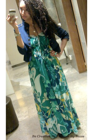 maxi dress H&M dress - River Island blazer