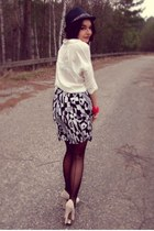 second hand skirt - deezee shoes - reserved hat - Bershka shirt