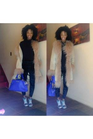 fur vintage jacket - silk black Forever 21 leggings