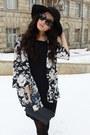 Zara-boots-sova-dress-h-m-hat-vintage-jacket