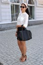 Black-zara-bag-off-white-h-m-blouse-bronze-zara-heels