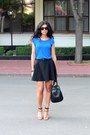Black-zara-bag-brown-mango-sunglasses-burnt-orange-zara-heels