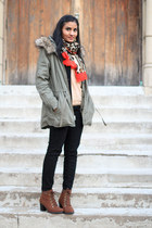 parka Gap jacket - ankle boots Old Navy boots - black Old Navy jeans