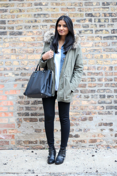 denim Gap jacket - parka Gap jacket - ankle boots Urban Outfitters boots