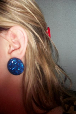blue Topshop earrings