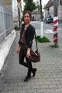 Black-deichmann-boots-black-bershka-coat-black-new-yorker-leggings