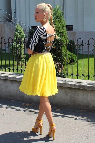 Nicole Enea skirt - Zara bag - Zara heels - Bershka top