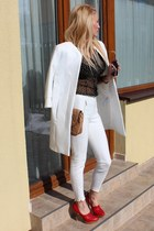 Zara coat - Bershka boots - Orsay shirt - Zara pants