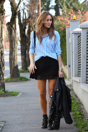PERSUNMALL skirt - PERSUNMALL boots - PERSUNMALL bag - Choies blouse
