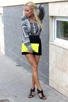 Zara shirt - Zara shorts - new look heels - H&M earrings