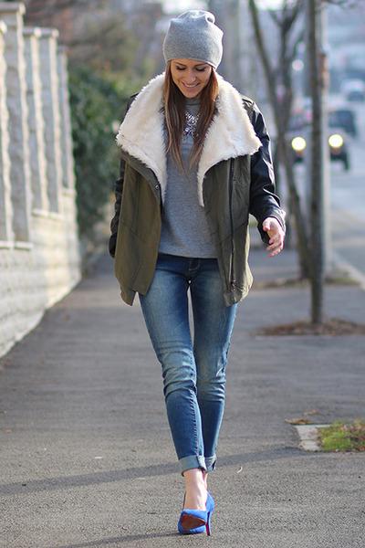 Sheinsidecom jacket - H&M hat - PERSUNMALL heels - Orsay t-shirt