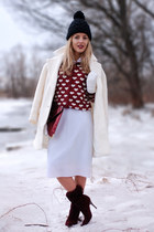 crimson hearts printed Choies cardigan