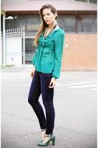turquoise blue Fornarina shirt