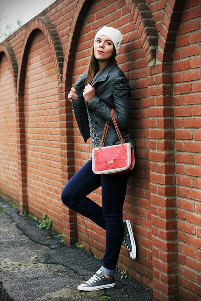 red Pomikaki bag - navy Cheap Monday jeans - dark gray Fornarina jacket