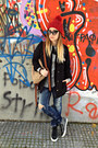 Blue-dsquared-jeans-black-zara-jacket-heather-gray-zara-sweater