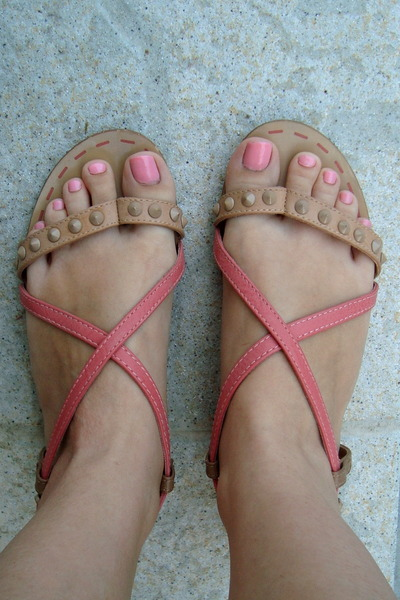 pink Bershka sandals