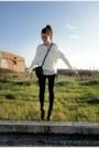 Black-lace-zara-shorts-dark-brown-lace-up-attrativo-boots