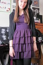 Purple-forever-21-dress-black-target-sweater-black-target-leggings-gray-ch