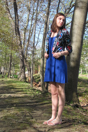 blue Express dress - navy Forever 21 jacket