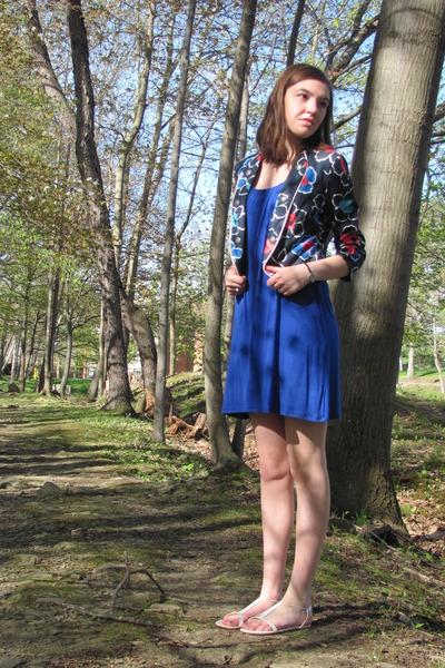 blue Express dress - navy Forever 21 jacket