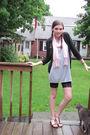 Black-h-m-leggings-gray-target-dress-black-target-sweater-pink-gift-scarf-