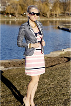 navy striped Motel Rocks blazer