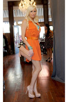 carrot orange shirt dress Shopaholics dress