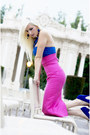 Hot-pink-pencil-skirt-jensen-skirt-blue-platform-betsey-johnson-shoes