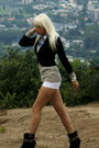 White-pants-made-into-h-m-shorts-dark-brown-suede-mini-naughty-monkey-boots