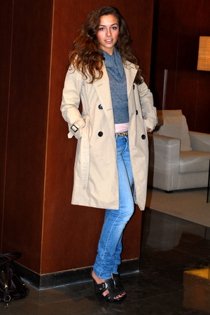 beige Zara coat - gray Zara shoes - blue H&amp;M jeans - gray Stradivarius sweater -