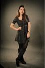 Dark-gray-zara-dress-boots-watch-stockings