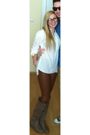 white Bershka blouse