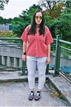 vintage blouse - H&M jeans - zeroUV sunglasses - Plndr necklace