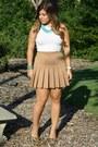 Cream-h-m-top-bronze-forever-21-skirt-bronze-steve-madden-heels