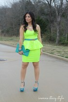 teal The Stylish closet bag - chartreuse The Stylish closet dress