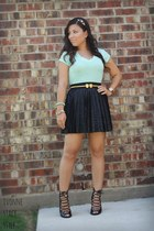pleated skirt Forever 21 skirt - Target top - Forever 21 heels