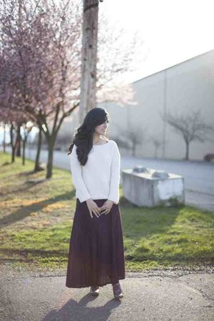purple maxi Topshop skirt