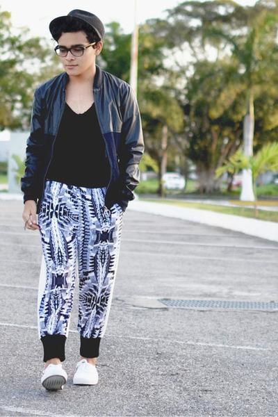 Zara hat - River Island jacket - Choies pants - Vans sneakers - Zara t-shirt