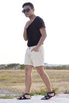 romwe sunglasses - Zara sandals