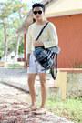 Zara-shoes-zara-shirt-nasty-gal-bag-sfera-shorts-zerouv-sunglasses