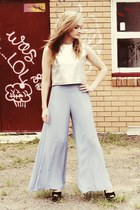 silver 1989 top - sky blue asos pants