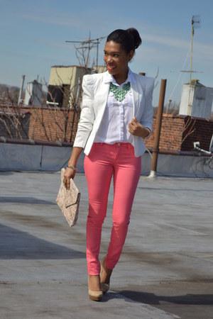 blazer - jeans - top